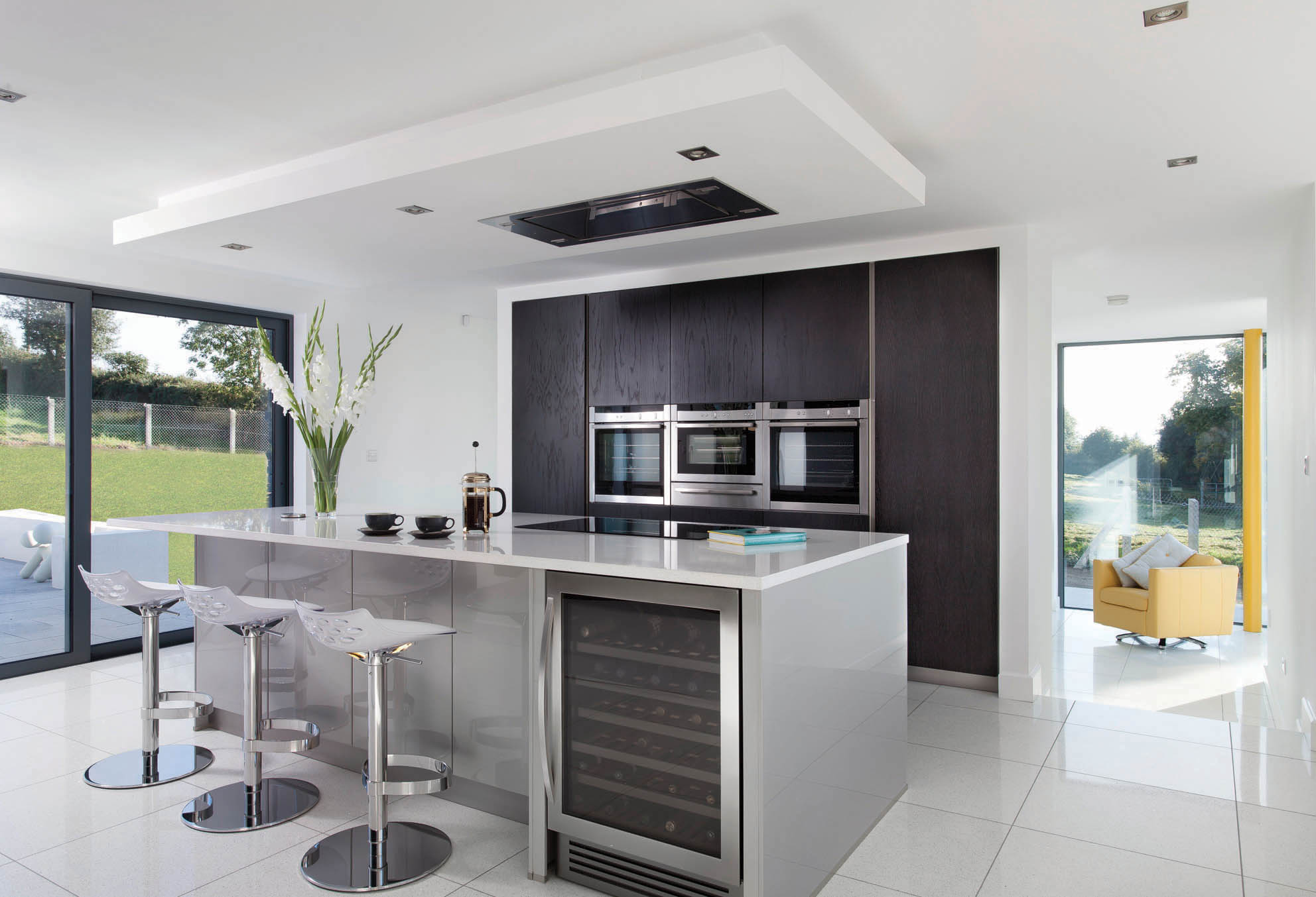 Contemporary Grey Kitchen Walnut Kitchen Dublin
